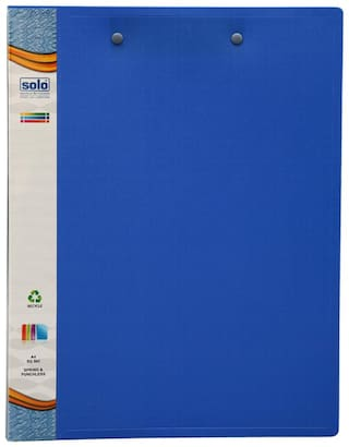 Spring & Punchless File (pack Of 5) - Blue
