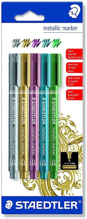 Staedtler 8323-Sbk5 Metallic Marker (Pack Of 5)