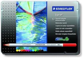 Staedtler Karat Aquarell Premium 125M12 Watercolor Pencil (Set Of 12)