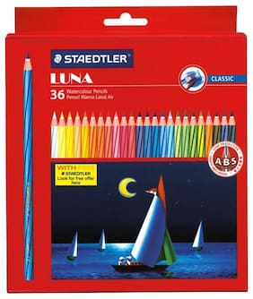 Staedtler Luna ABS Water Color Pencils (Box of 36 Colors)