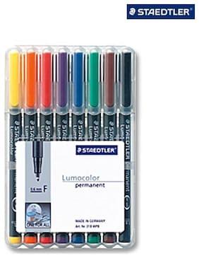 Staedtler LumoColor Fine Non - Permanent Pen (Set of 8 Colors)