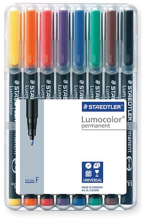 Staedtler Lumocolor 318 Fine 0.6Mm Line Permanent Pen