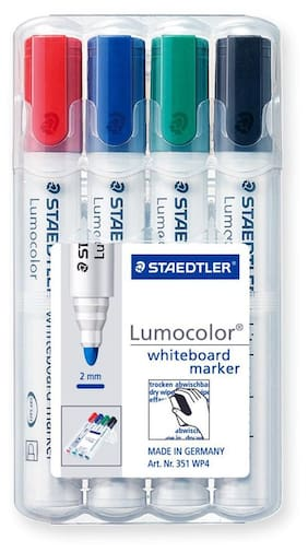 Staedtler Lumocolor 351 Wp4 Bullet Tip Whiteboard Marker (Pack Of 4)