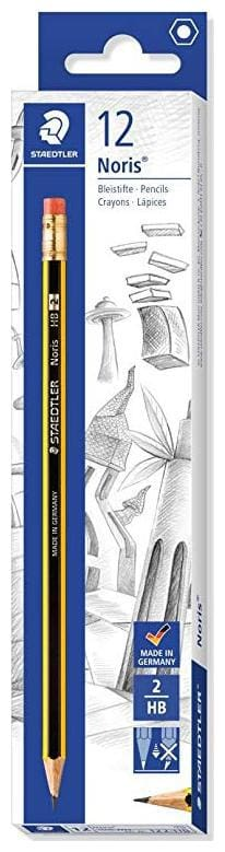 STAEDTLER NORIS PENCIL WITH ERASER TIP HB DEGREE (PACK OF 12)