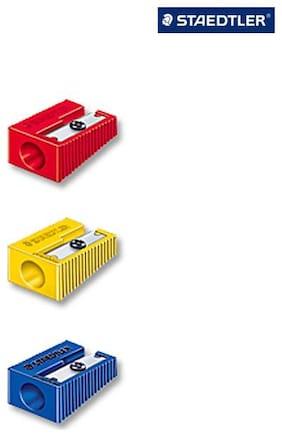 Staedtler Plastic Single Hole Sharpener (5 Sets - 5 pcs in each set)