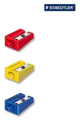 Staedtler Plastic Single Hole Sharpener (5 Sets - 5 pcs in each set)