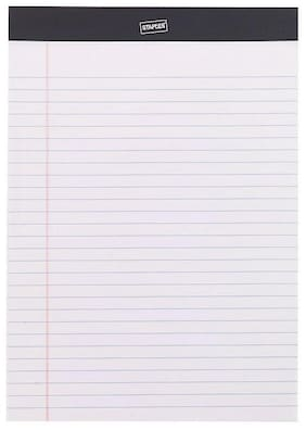 "Staples Notepads 8.25"" x 11.75"" Wide White 50 Sh./Pad 72 Pads/PK 163824"