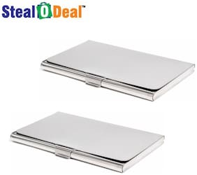 Stealodeal 2pc Stainless Steel Card Holder