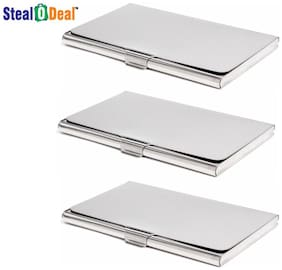 Stealodeal 3pc Stainless Steel Card Holder
