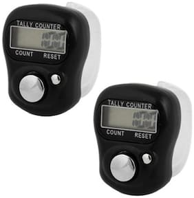 Stealodeal Black Electronic Finger|Pack of 2| Manual Tally Counter