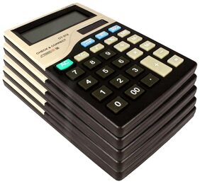 Stealodeal CT-312 |Pack of 5| 12 Digit Basic Calculator