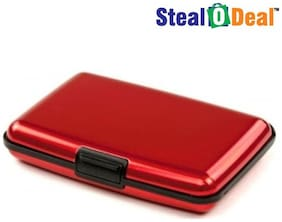 Stealodeal Red Atm Visting Card Holder