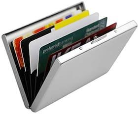 Stealodeal Stainless Steel Pocket Business Credit Debit 6 Card Holder  (Set of 1, Silver)