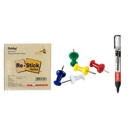 Sticky Notepad With 50 Board pins & Marker