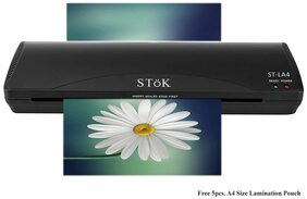 SToK ST-LA4 A4 Lamination/Laminating Machine with 5 Free Lamination Pouches/Ideal for Photos ID;I-Card;Hot & Cold 9 inch