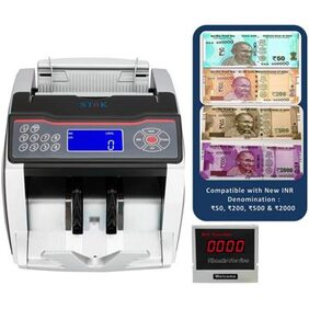 SToK ST-MC02 Notes Counting Machine and Fake Notes Detector with Color Changing LCD Display- 1 Year Warranty ( Compatible with New Currency - Rs. 50, 200, 500 & 2000 denomination)