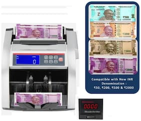 SToK ST-MC03 Note Counting Machine with Fake Note Detector & LCD Display + Color Changing Display- 1 Year Warranty - (Compatible with New Currency - Rs. 50, 200, 500 & 2000 denomination)