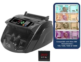 SToK ST-MC05 Notes Counting Machine and Fake Notes Detector with Color Changing LCD Display,Beep Function- 1 Year Warranty (Compatible with New Currency-Rs. 50, 200, 500 & 2000 denomination)