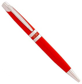 STOLT Ample - Metal Red Ball Pen ( Blue , 1 PC )