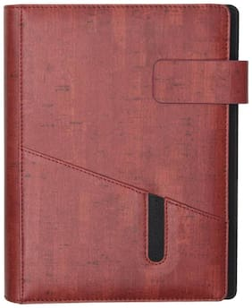 STOLT PU Red Color Diary