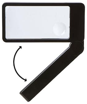 Store2508  Compact Travel Rectangular Folding Magnifying Glass Magnifier with 2X & 4X Magnification
