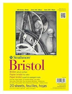 "Strathmore 300 Series Bristol Pad Vellum 11x14"""