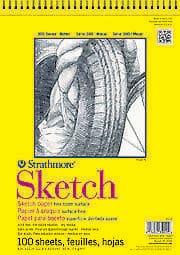 "Strathmore 300 Series Sketch Pad 11x14"" 100 Sheets"