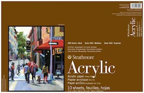 Strathmore 400 Series Acrylic Paper Pad, 12 x 12 inch, 246 lb, 10 Sheets