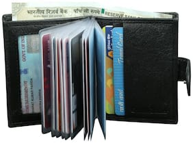 Style 98 Black Premium quality Leather Travel Card Holder Wallets