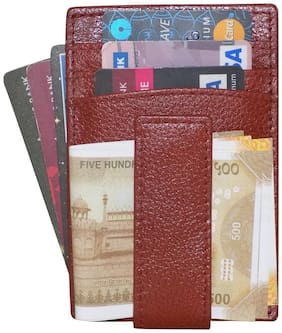 STYLE SHOES Leather Bombay Brown Atm;Visiting;Credit Card Holder;Pan Card/ID Card Holder;Pocket wallet Genuine Accessory for Men and Women
