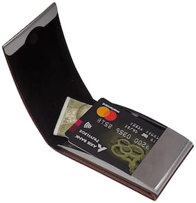 Style Shoes Rfid Protected Slim Stainless Steel Debit/Credit 6 Card Holder