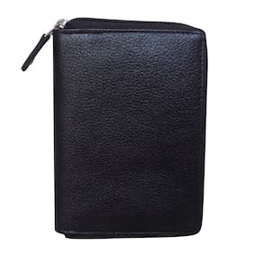STYLE SHOES Leather Black Atm, Visiting, Credit Card Holder, Pan Card/ID Card Holder, Pocket wallet Genuine Accessory for Men and Women