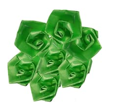 Stylewell 50 Gram (Green Color) Artificial Handmade Plastic Paper Rose Flowers For Diy Craft/Bouquet Making/Material/Wedding/Party Hall/Card Decorations & Gift Packing/Wrappings (Approxly 90 Pcs)