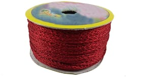 Stylewell (Maroon) Color 18 Mtr. Resham Zari Twisted Thread/Dori Lace For Sewing Making Scrap Booking;Handicrafts & Craft Diy Projects