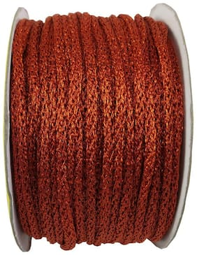 Stylewell (Orange) Color 18 Mtr. Resham Zari Twisted Thread/Dori Lace For Sewing Making Scrap Booking;Handicrafts & Craft Diy Projects