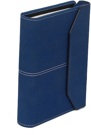 Sukeshcraft Planner Covered with Magnetic Flap;Round Ring 6 Holes with Year Long Stationery (Blue)
