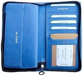 Sukeshcraft Passport Cheque Book Currency Credit Card Zipper Safe