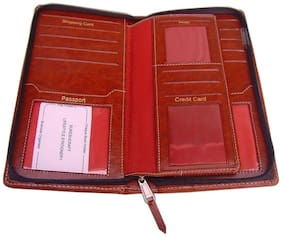 Sukeshcraft Definition- Passport Cover For 2 Passports (Brown)
