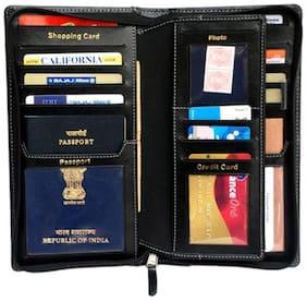 Sukeshcraft Definition-BLK Passport cover for 2 Passports (Black)