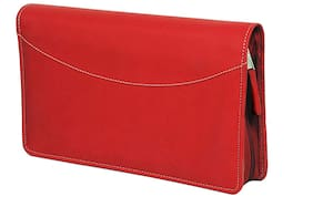 Sukeshcraft Multiple Cheque Book;Currency;Card Holder RFID Blocking (Maroon)