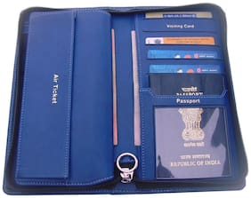 Sukeshcraft Travel Wallet (Blue)