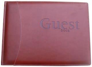 Sukeshcraft Guest Book-Size Diary Hard Bound (Maroon)