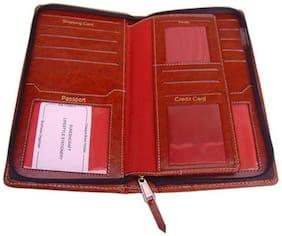 Sukeshcraft Zipper Safe 2 Passport 13 Cards Currency Boarding Pass Holder