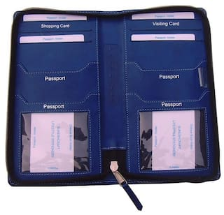 b2c93bbd5 Buy Sukeshcraft 2Geather - Multiple Passport Holder (Blue) Online at ...