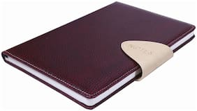 Sumo Prime Leather Foam Covered Magnetic Loop Lock Notebook (Ideal for all Writing Purposes at Home, School & Office) (Size A5 - 150 x 210 mm) (Colour - BURGUNDY)