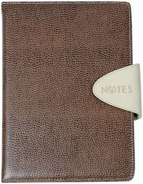 Sumo Prime Leather Foam Covered Magnetic Loop Lock Notebook (Ideal for all Writing Purposes at Home, School & Office) (Size A6 - 105 x 148 mm) (Colour - TAN)
