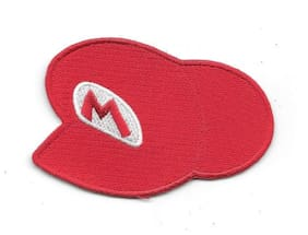 """Super Mario Video Game Name Mario   s Red Hat Logo 3.5"""" Embroidered Patch"""
