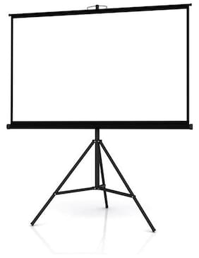 Technolite Tripod Type Projector Screen in Imported High Gain Fabric, 7 Ft. x 5 Ft.