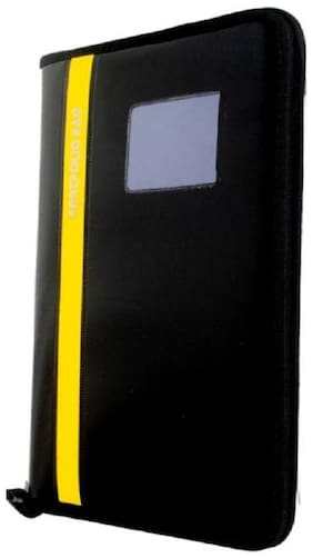 TEP Black and Yellow Strips Leather File Folder 20 Strips (Set of 1)