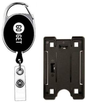 TEP Black ID Badge Holder with Cover